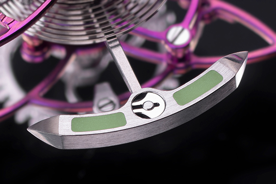 lotus clock flaming balance triple-axis tourbillon