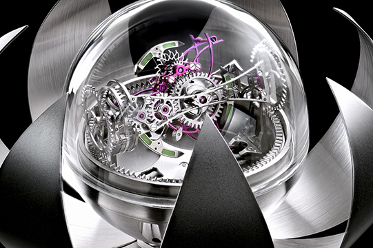 triple-axis tourbillon flaming balance