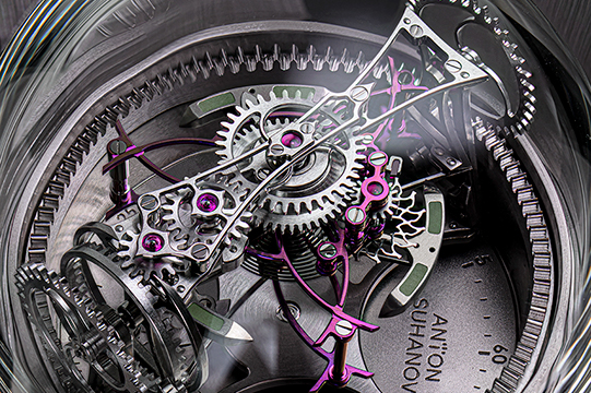 three-axis tourbillon lotus clock